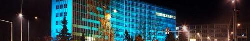 kielce wiadomości Kielce podświetlone na niebiesko (zdjęcia)