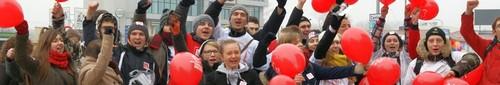 Ruszyła Szlachetna paczka 2012 - marsz wolontariuszy w Kielcach (zdjęcia,video)