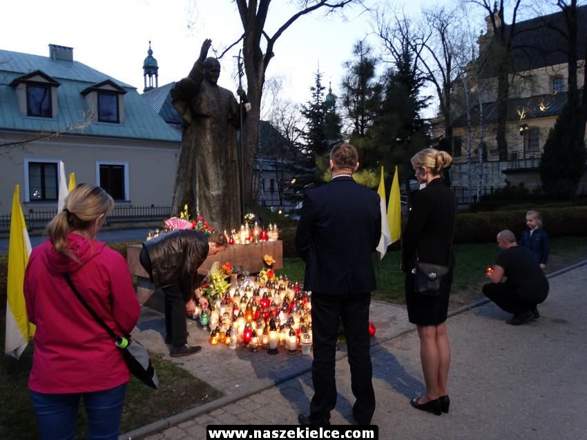 Kielczanie pamiętali o Janie Pawle II 02.04.2017
