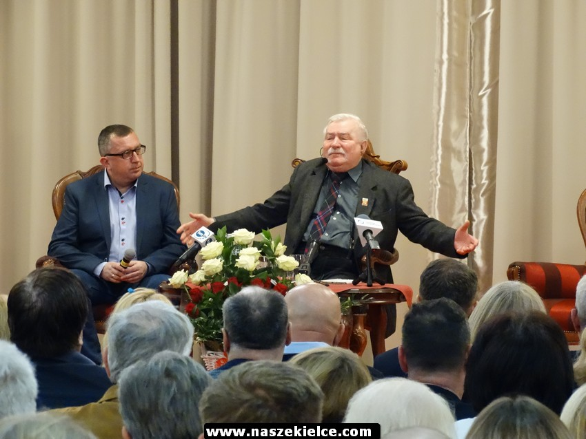 Lech Wałęsa w Kielcach 08.03.2017