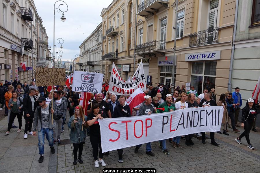 Marsz antycovidowy w Kielcach 10.10.2020
