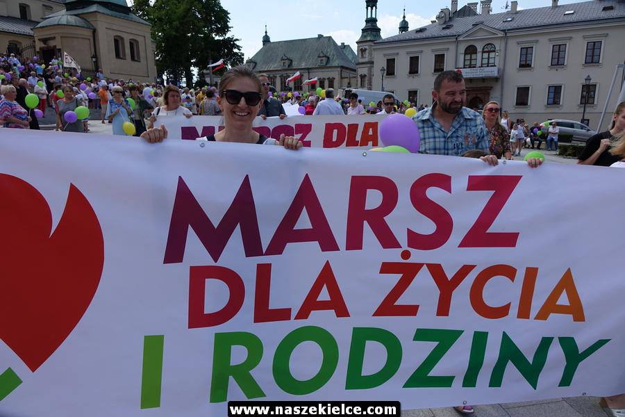 Marsz dla Życia i Rodziny w Kielcach 10.06.2018