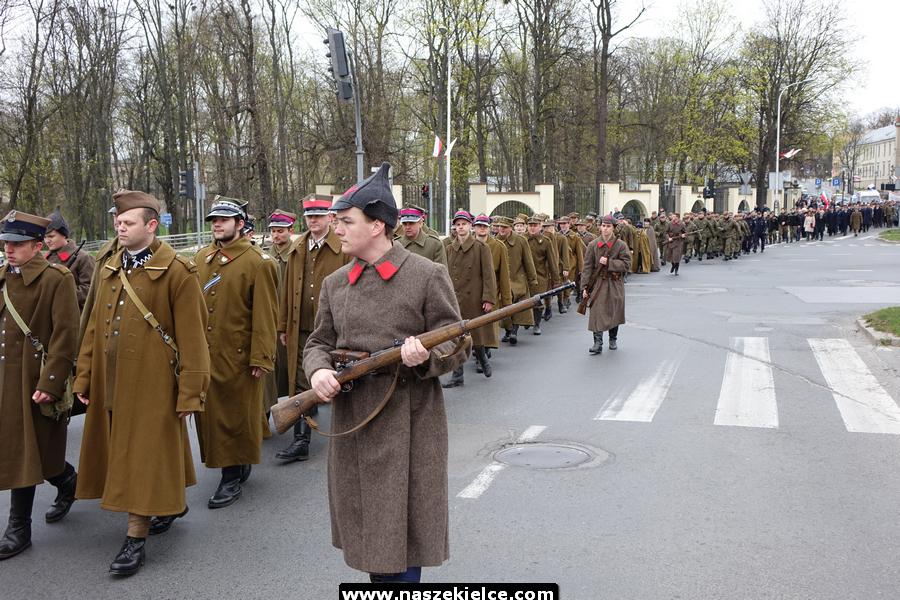 Marsz katyński w Kielcach 12.04.2019