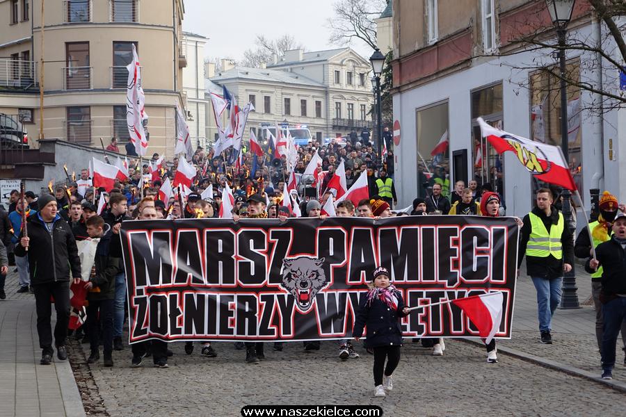 Marsz Pamięci Żołnierzy Wyklętych w Kielcach 01.03.2020