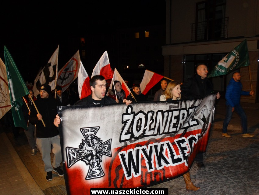 V Kielecki Marsz Pamięci Żołnierzy Wyklętych 04.03.2017