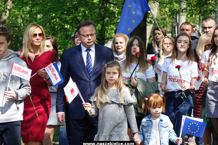 Marsz pierwszomajowy w Kielcach 01.05.2019