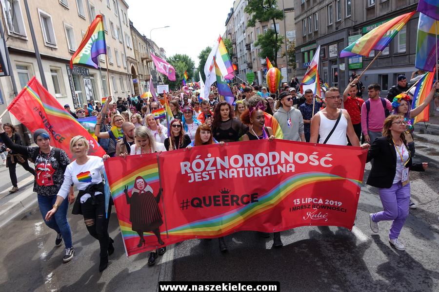 Pierwszy marsz LGBT w Kielcach 13.07.2019
