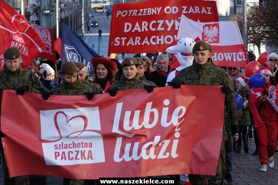 Marsz Szlachetnej Paczki w Kielcach