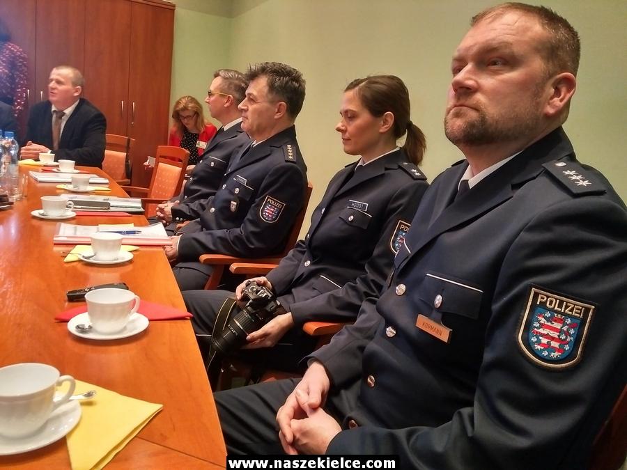 Niemieccy policjanci w Kielcach 05.02.2019