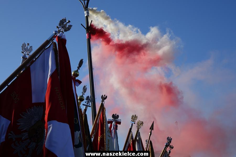 Obchody setnej rocznicy odzyskania niepodległości w Kielcach 11.11.2018
