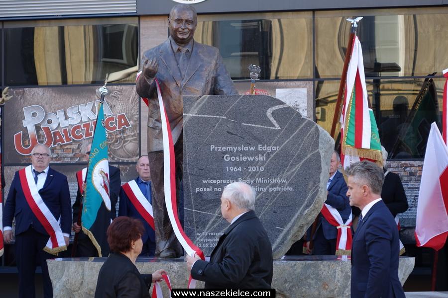 Odsłonięcie pomnika Przemysława Gosiewskiego w Kielcach 27.10.2019