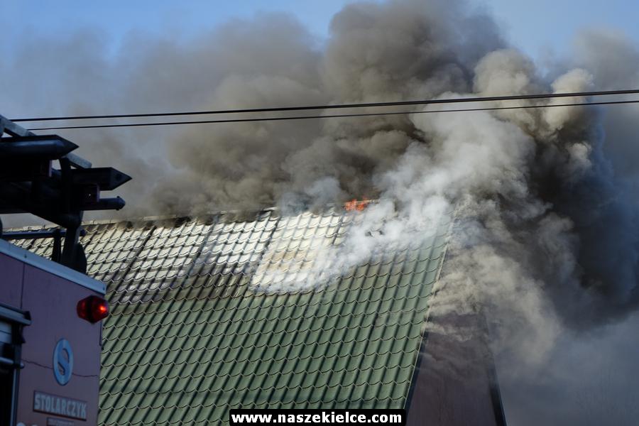 Pożar domu na Biesagu 06.11.2018