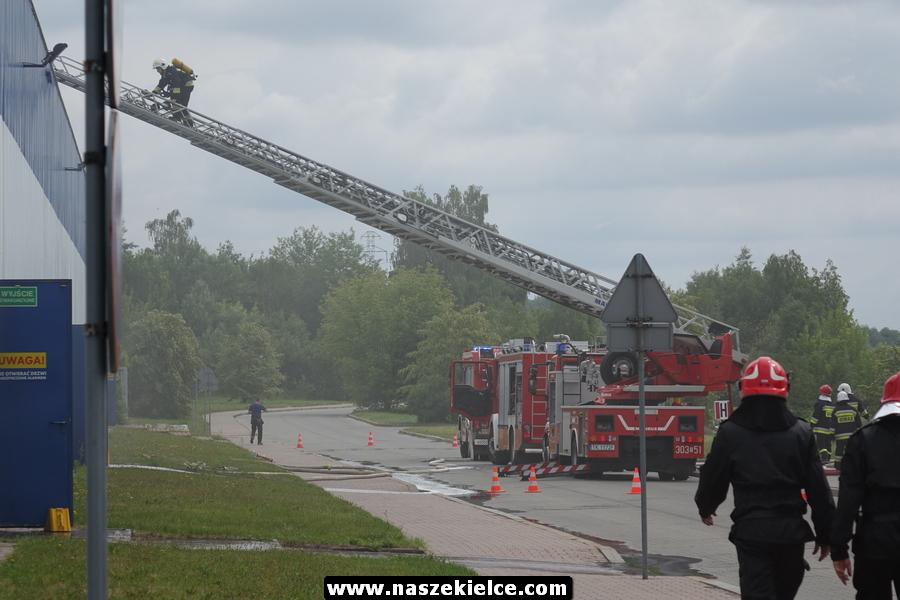 Akcja gaszenia dawnego Praktikera na Radomskiej 14.06.2018