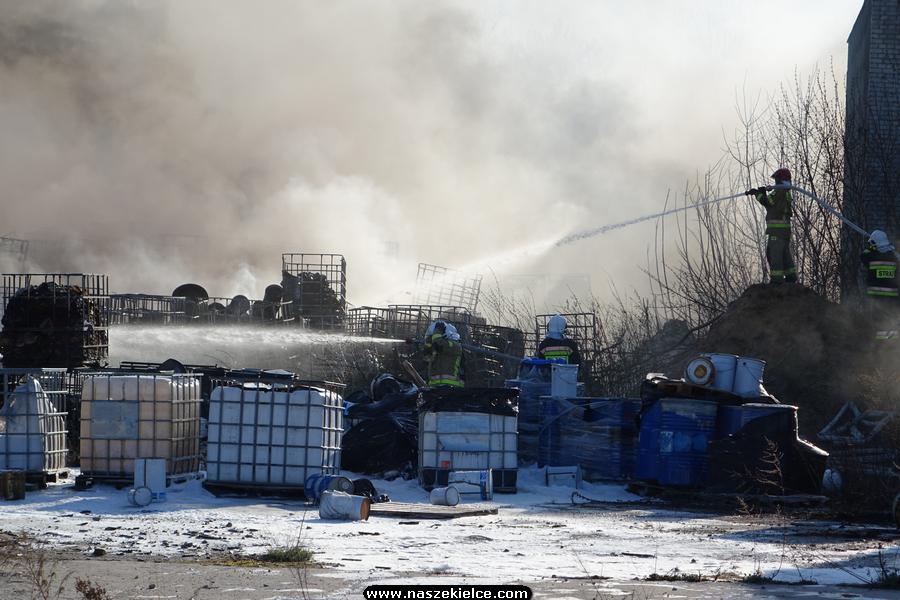 Pożar w Nowinach 19.04.2020