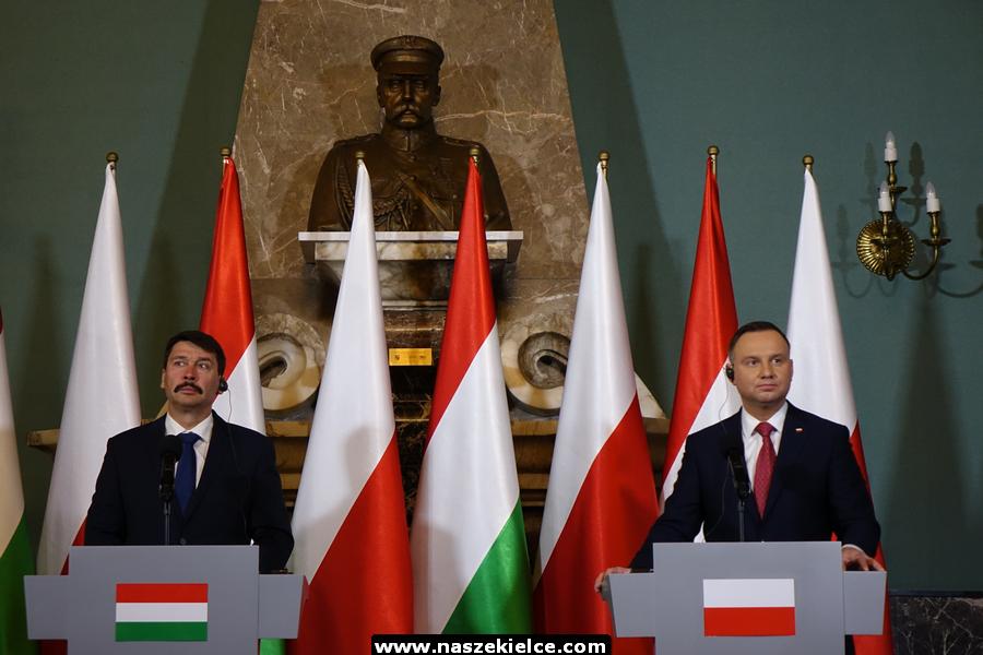 Prezydenci Polski i Węgier w Kielcach 22.03.2019