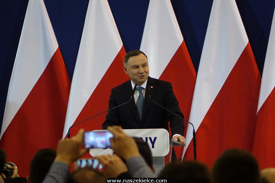 Andrzej Duda w Chęcinach 04.03.2020