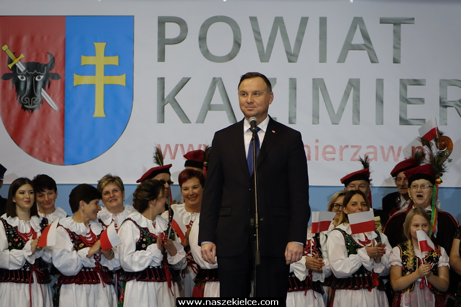 Prezydent Andrzej Duda w Kazimierzy Wielkiej 14.11.2019