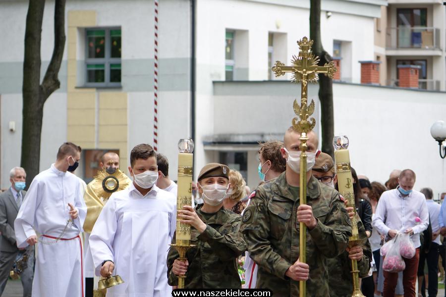 Procesje Bożego Ciała w Kielcach 11.06.2020