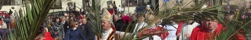 kielce wiadomości Niedziela Palmowa w Kielcach - procesja wiernych przeszła prze