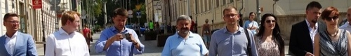 kielce wiadomości Ryszard Petru lider NowoczesnaPL odwiedził Kielce (video)