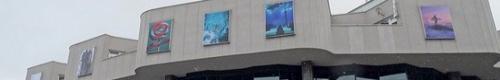 """kielce kultura """"Życie jest piękne"""" na fasadzie KCK (zdjęcia)"""