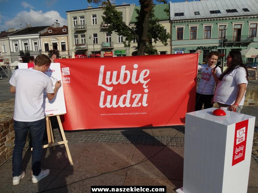 Lubię Ludzi - happening Szlachetnej Paczki w Kielcach 11.07.2017
