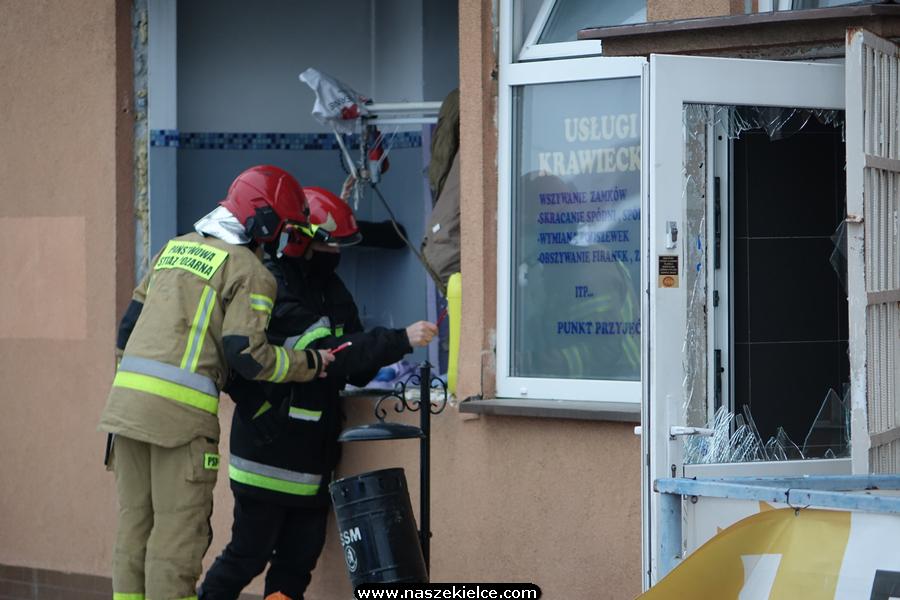 Wybuch w pralni chemicznej na Warszawskiej 16.02.2021