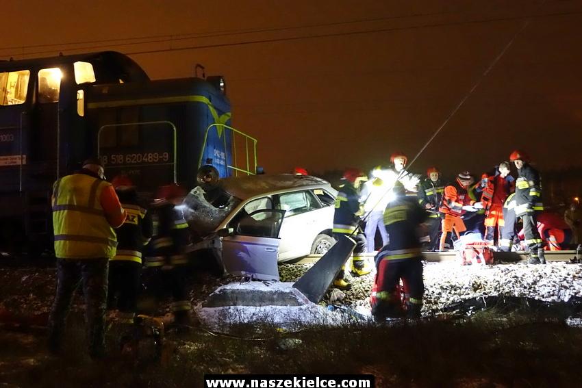 Wypadek kolejowy Biesak 16.01.2018