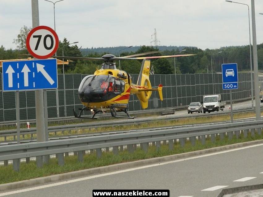 Wypadek na S7 w Kostomłotach 14.07.2017