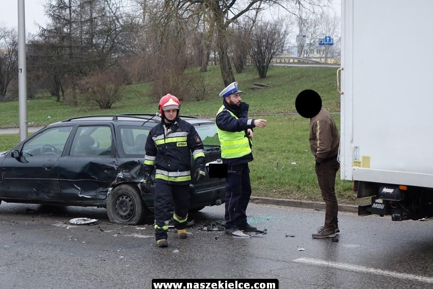 Wypadek na Krakowskiej 11.01.2018